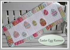 Easter Egg Runner from The Quilted B. just an idea from picture, link doesn't work