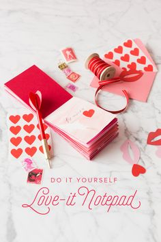 If you are looking for a cute do it yourself Valentine's Day gift check out our tutorial on how to make a notepad!