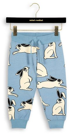 Organic Cotton White Bunny Sweatpants