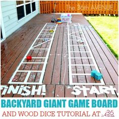 The 36th AVENUE   Kid Activities – Backyard Giant Game Board   The 36th AVENUE