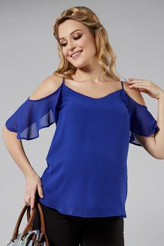 Modrá těhotenská halenka se splývavými ramínky Tops, Women, Fashion, Moda, Fashion Styles, Fashion Illustrations, Woman