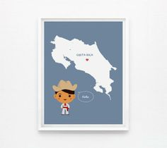 Personalized Children Decor Custom Country Map by Loopz | Hatch.co