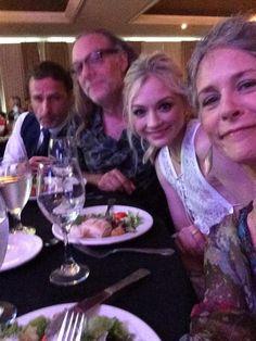 Andrew Lincoln, Greg Nicitero, Emily Kinney, & Melissa McBride at the 2015 Saturn Awards.