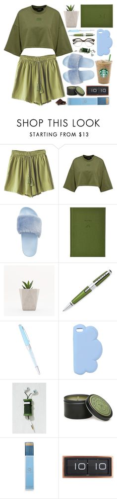 """cozy sunday"" by the-amj ❤ liked on Polyvore featuring Steve Madden, School of Life, Jimmy Crystal, STELLA McCARTNEY, Urban Outfitters, Archipelago Botanicals, Draper James and LEFF Amsterdam"