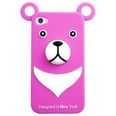 for iPhone4/4S Case iburg 3D Bear Crassic Red