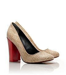 Clay Pump - the classic spring neutral with a pop of red on the heel for fun - these may be my favourite shoes ever!