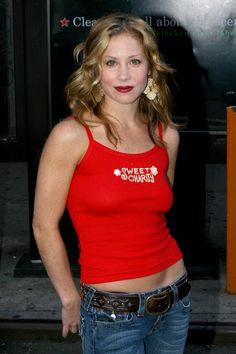 """Christina Applegate Photos - Christina Applegate arrivesat the 'Broadway On Broadway' on Times Square on September 2005 in New York City. - Annual """"Broadway On Broadway"""" Free Concert Christina Applegate Hot, Sexy Women, Women Wear, Bikini Pictures, Best Actress, Bikini Bodies, Girl Model, Cropped Tank Top, Jeans"""