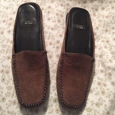 Vintage Stuart Weitzman  Beautifully made vintage Stuart Weitzman mules/loafers. Some light wear but in great condition. I hate to part with them. Stuart Weitzman Shoes Mules & Clogs