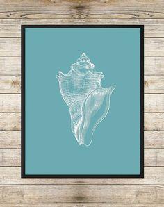 Love the color combination + the seashill print