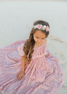 Djusty Rose Delphine Gracie Flower Crown Flower Girl Dresses Boho, Toddler Flower Girl Dresses, Baby Dress, Dusty Rose, Dusty Pink, Baby Flower Crown, Baby Girl Accessories, White Roses, Tulle