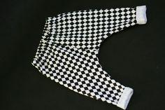 Baggy czarno-białe romby