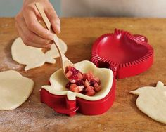 Pocket Pie Molds - also in lattice & star shapes for sweet or savory individual pies. So cute for dessert w/ a scoop of ice cream!!