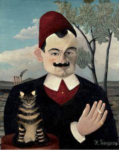 By Henry Rousseau (1844-1910),  ca. 1910, Portrait de Monsieur X (Pierre Loti). Huile sur toile 61 x 50 cm Kunsthaus Zürich