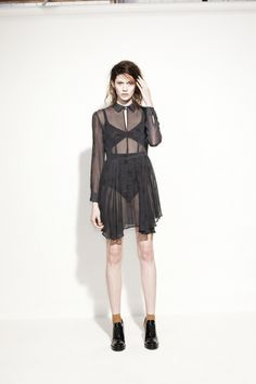 How to show off your lingerie with class. From Lonely Hearts AW13 Lookbook. #lonelybylonelyhearts #fashionblog