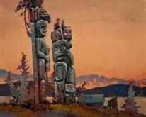 Robert Genn, artist, original landscape paintings at White Rock Gallery A West Coast Memory