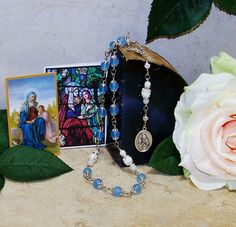 Unbreakable Catholic Relic Rosary of St. Anne - Patron of Mothers, Expectant…