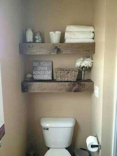How cute is this shelving nestled in the wall?