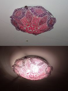 DIY lamp from lace