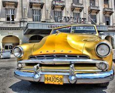 ⊱Yellow dodge - La Habana Vieja in Cuba Dodge, Vinales, Alpha Romeo, Cuban Cars, Vintage Cuba, Old American Cars, Bugatti, Lamborghini, Havana Cuba