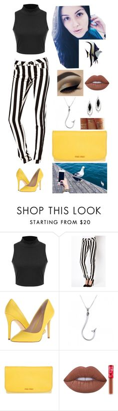 """Gill. (Finding Nemo)"" by annacastrolima ❤ liked on Polyvore featuring Charles by Charles David, Miu Miu, castro, Lime Crime and Alexis Bittar"