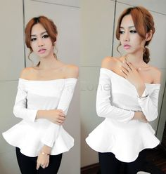 Cheap blouses for women 2013, Buy Quality shirt baby directly from China blouse white Suppliers:     	  	    	     	      Product Specifications            Sexy Women Boat Neck  Off Shoulder Lo