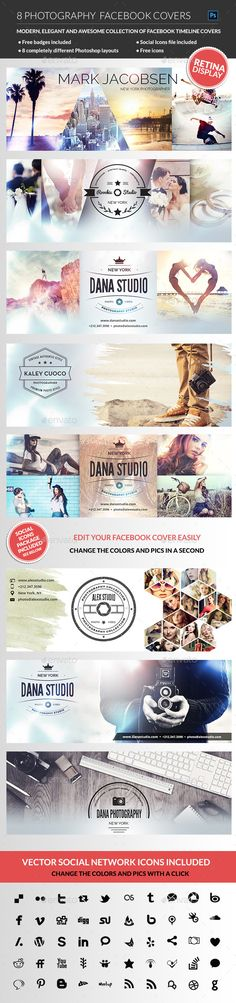 Photographer Facebook Cover Template PSD #design #social Download: http://graphicriver.net/item/photographer-facebook-cover/12044255?ref=ksioks