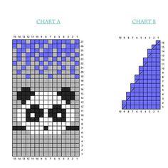 "Jacquard ""Panda"" a find for children's things 1 Beaded Cross Stitch, Crochet Cross, Cross Stitch Charts, Cross Stitch Patterns, Knitting Charts, Baby Knitting, Knitting Patterns, Bead Loom Patterns, Beading Patterns"
