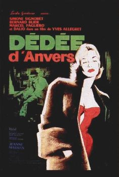 """Movie Poster """"Dédée d'Anvers"""", 1947, movie by Yves Allégret with Simone Signoret."""
