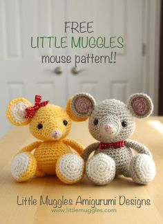 Mesmerizing Crochet an Amigurumi Rabbit Ideas. Lovely Crochet an Amigurumi Rabbit Ideas. Crochet Gratis, Crochet Patterns Amigurumi, Crochet Dolls, Crochet Mouse, Knit Or Crochet, Chrochet, Crochet Animals, Stuffed Toys Patterns, Crochet Projects