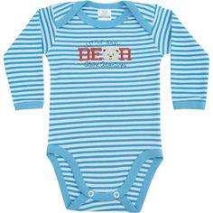Body de Bebê Menino Listrado Azul - Best Club :: 764 Kids | Roupa bebê e infantil