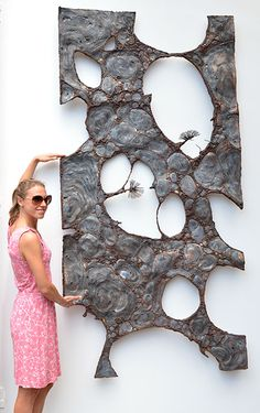 Wall sculpture made of metal