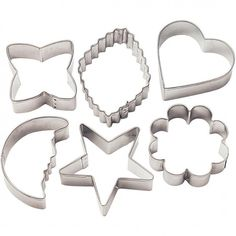 Wilton Metal Cookie Cutters - Classic Shapes => You can get more details here : Baking Tools and Accessories Metal Cookie Cutters, Cookie Cutter Set, Metal Cutter, Basic Cookies, Yummy Cookies, French Coconut Pie, Homemade Pound Cake, Cookie Images, Christophe Felder