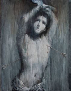 """Artist Ipalbus Artist; Painting, """"The Martyrdom of Saint Sebastian. (After Guido Reni). From the Series inspired by the Great Masters."""