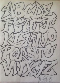 Alphabet calligraphie graffiti font alphabet lettres hip hop conception de type graffiti - Lettre graffiti modele ...