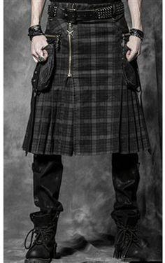 Punk Rave Gothic Mens Beserk Kilt