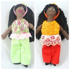 African American Dress Up Doll  Handmade Toy For by JoellesDolls
