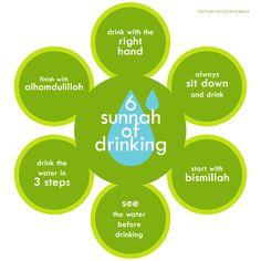 Sunnah of drinking
