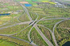 An aerial photograph of the and motorway junction in the west of London Personal Identity, Aerial Photography, Cornwall, City Photo, Commercial, London, Places, Big Ben London, Lugares