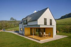 House in Bítouchov Home Fashion, Prefab, Modern Interior Design, Lodges, Curb Appeal, New Homes, Farmhouse, Exterior, Outdoor Structures