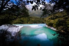 Blue Pools Makarora, New Zealand
