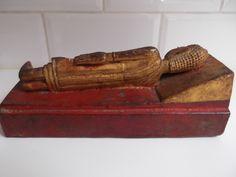 sleeping Buddha Birma Gilded and lacquered wood