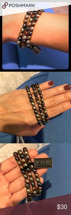 Honora Pearl bracelets Beautiful brand new with tags Honora pearls. Triple set of bracelets. Honora Jewelry Bracelets