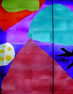 Patrick Heron Stained glass window at Tate St Ives