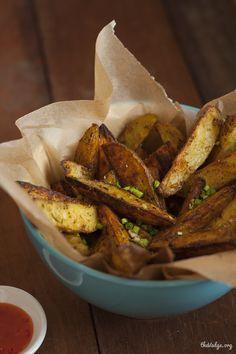 Oven-Baked Garlic Herb Potato Wedges