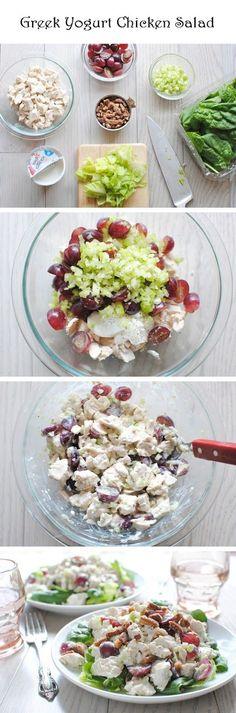 Greek yogurt chicken salad.