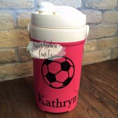 aae3fc2da2 FREE SHIPPING***Personalized Sports Name or Monogram Water Jug Decal,  Soccer, Football, Baseball, T