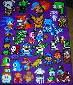 My perler bead sprites, via Flickr.