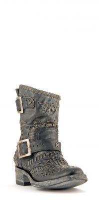 Womens Old Gringo Biker Apache Boots Black #L1361-5 via @Allens Boots