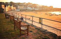 Low tide on Holgate's Green - St. Mary's, Isles of Scilly. I've spent many a peaceful afternoon sat on one of these benches watching and listening to the ocean.