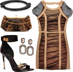 Geometric Animal Print, created by leiastyle on Polyvore